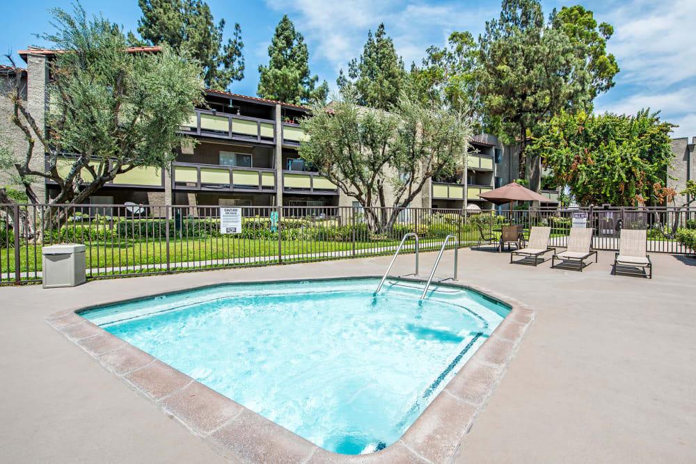 Hot tub at Olive Ridge in Pomona, California
