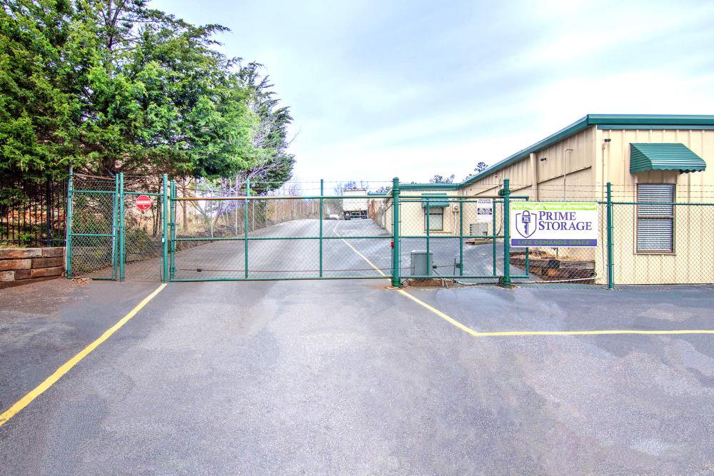 Security fence at Prime Storage in Marietta, Georgia
