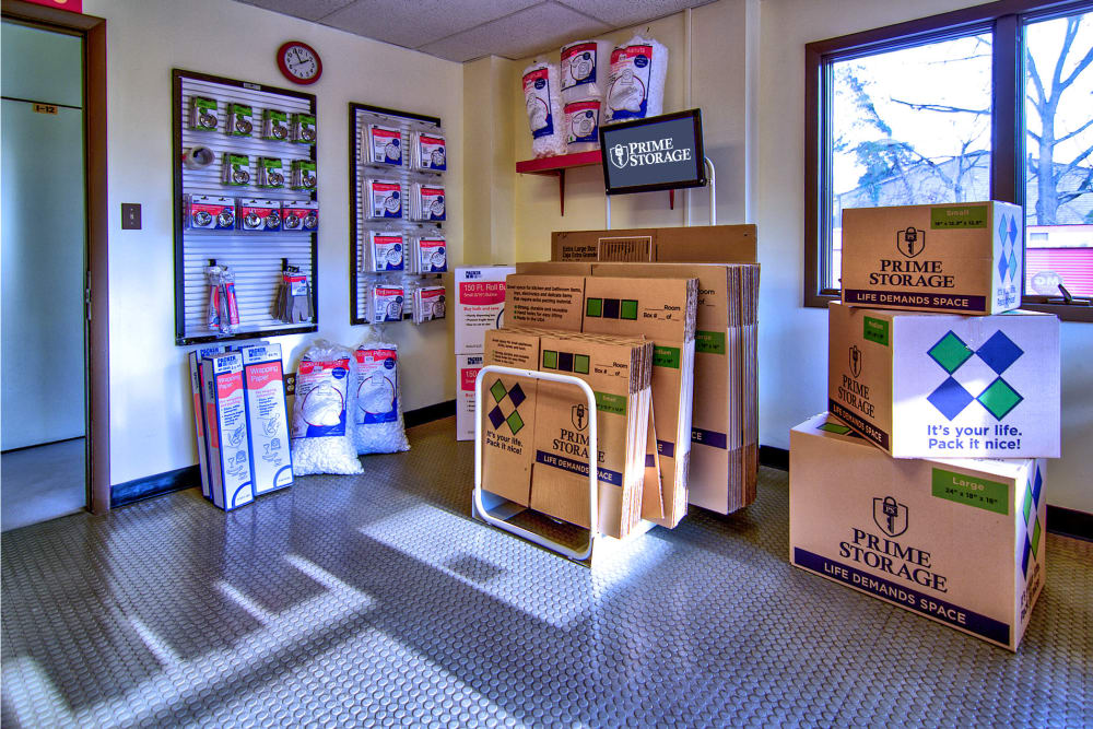 Packing supplies available at Prime Storage in Lindenwold, New Jersey