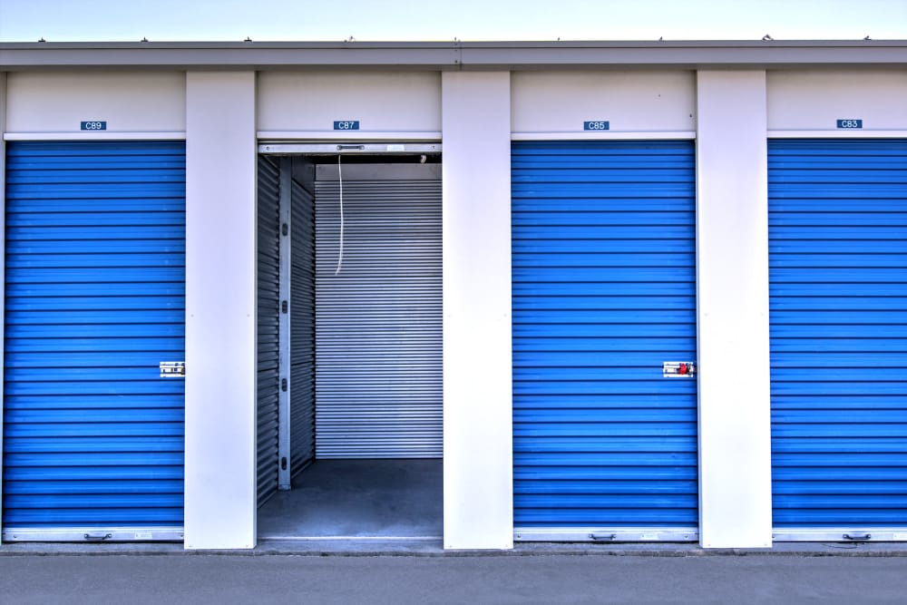 Outdoor storage units at Prime Storage in Virginia Beach, Virginia