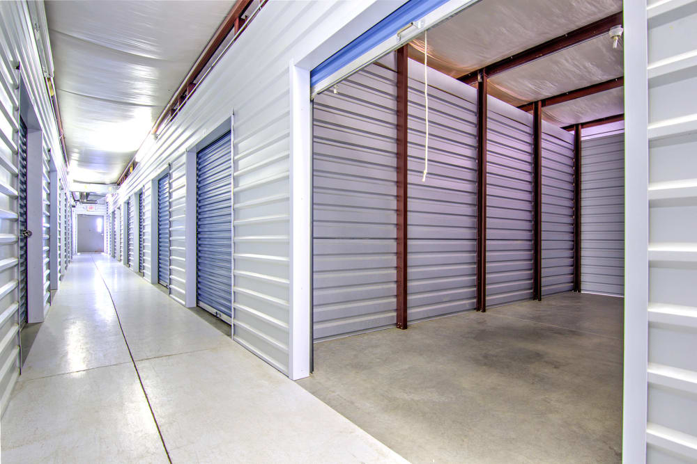 Indoor storage units at Safe Storage in Nicholasville, Kentucky