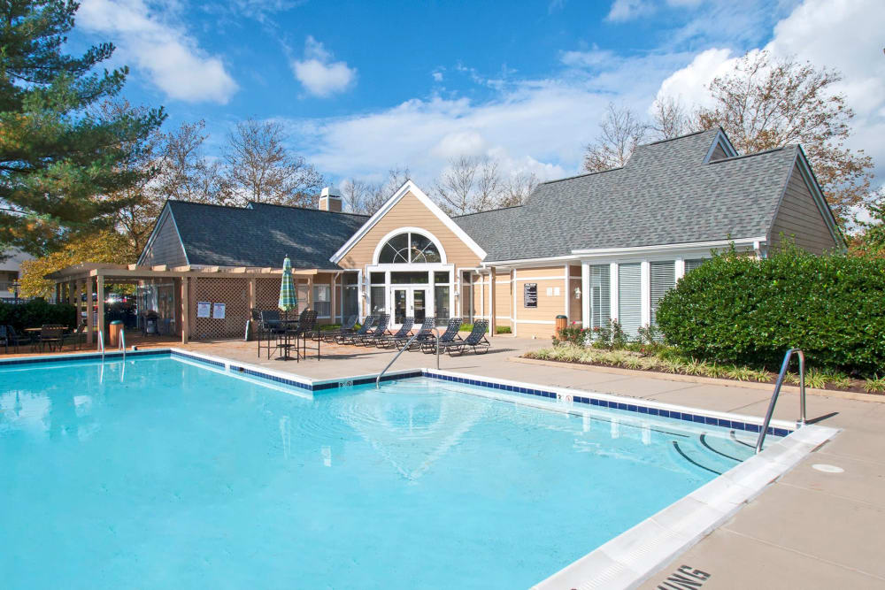 The pool at Kingscrest Apartments in Frederick, Maryland