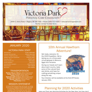January Victoria Park Personal Care Home Newsletter