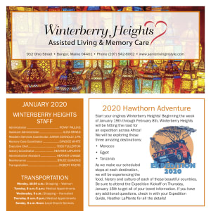 January Winterberry Heights Assisted Living and Memory Care Newsletter