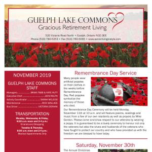 November Guelph Lake Commons newsletter