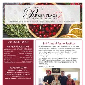 November Parker Place newsletter