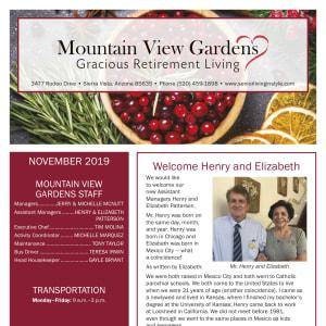 November Mountain View Gardens newsletter