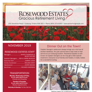 November Rosewood Estates newsletter