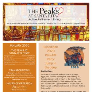 January The Peaks at Santa Rita Newsletter
