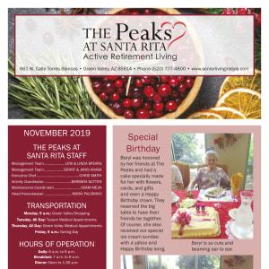 November The Peaks at Santa Rita newsletter