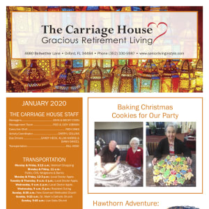 January The Carriage House Gracious Retirement Living Newsletter