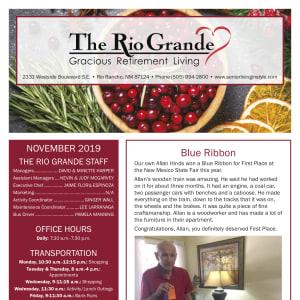 November The Rio Grande Gracious Retirement Living newsletter