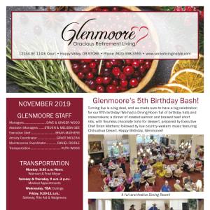 November Glenmoore Gracious Retirement Living Newsletter