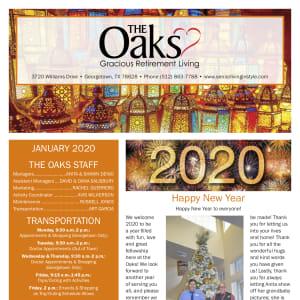January The Oaks Gracious Retirement Living Newsletter