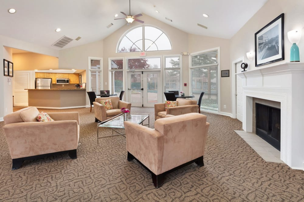 The clubhouse at Kingscrest Apartments in Frederick, Maryland