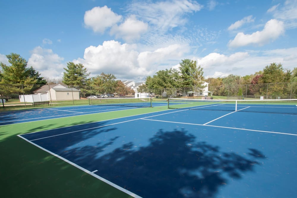 The tennis court at Kingscrest Apartments in Frederick, Maryland