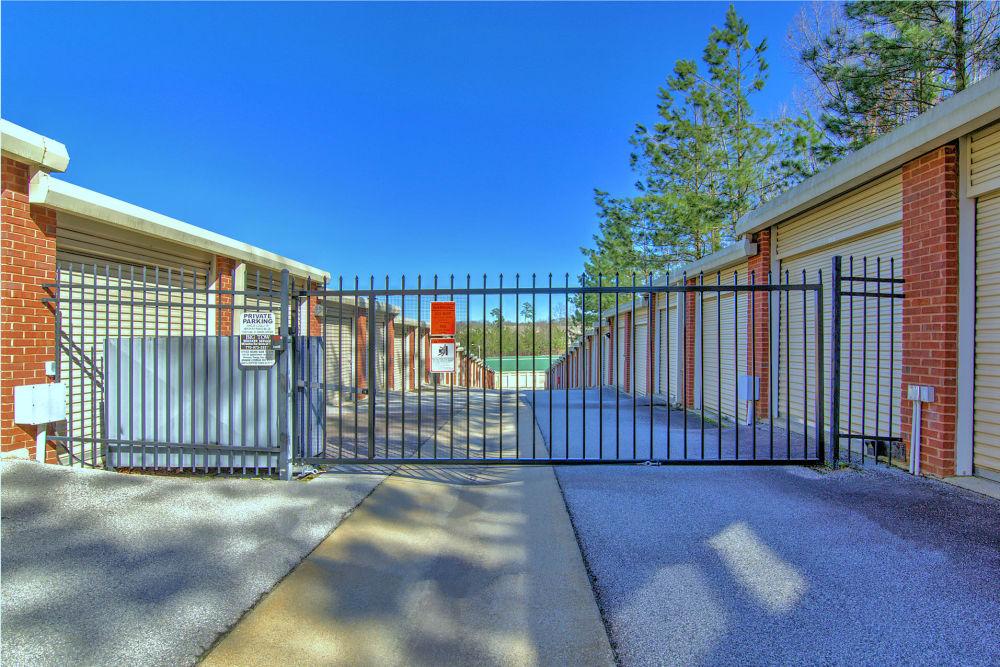 Gated entry at Prime Storage in Dallas, Georgia