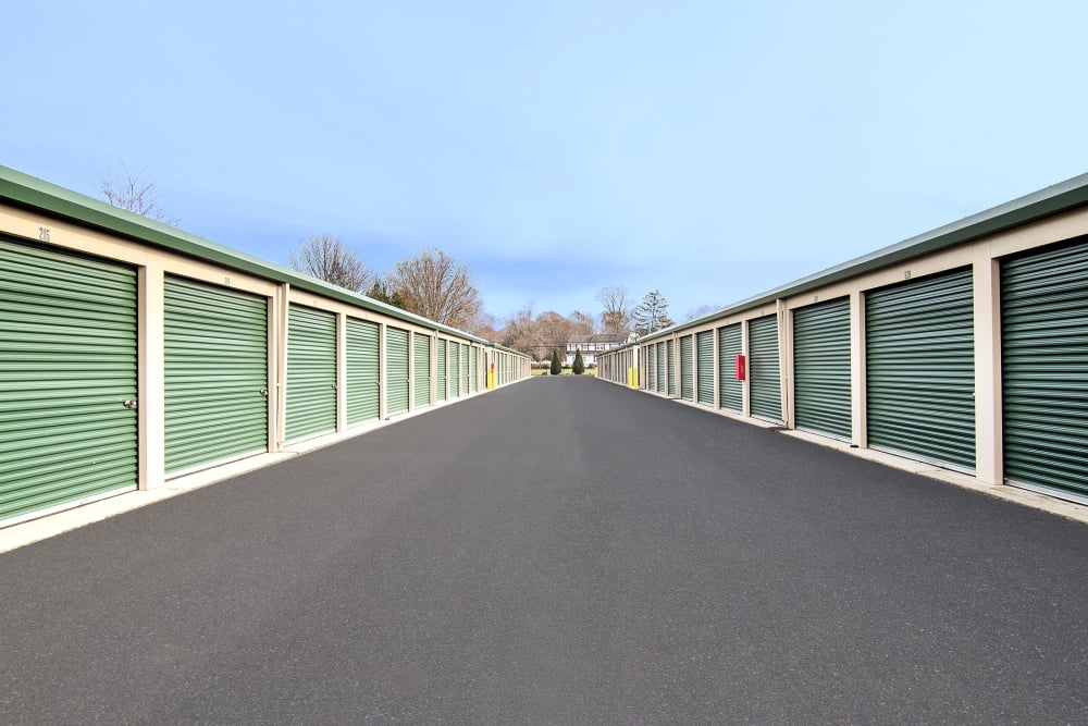 Wide driveways at On Site Storage in Hammonton, NJ