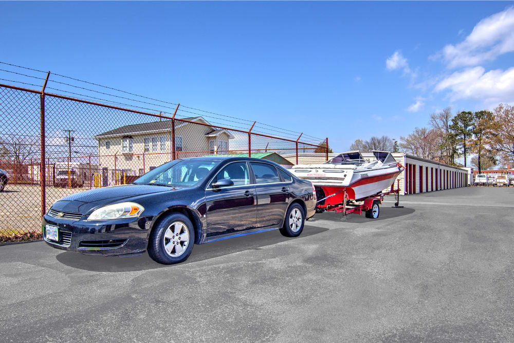 Car and boat parking at Prime Storage in Newport News, VA