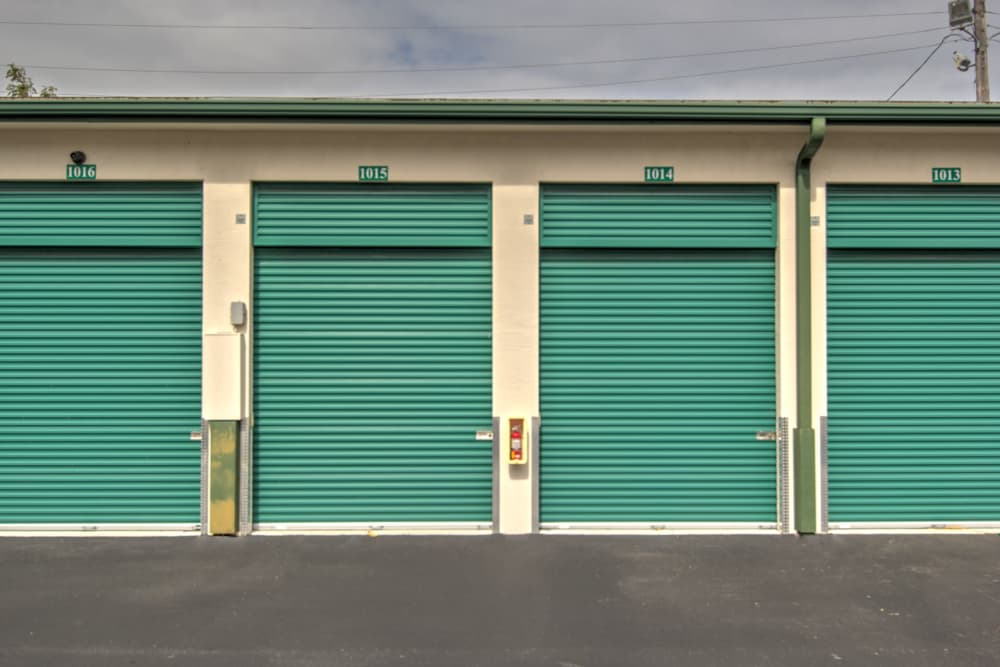 Outdoor storage units at  Prime Storage in West Palm Beach, Florida