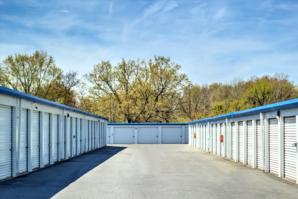 Outdoor storage units at Prime Storage in Baltimore, Maryland