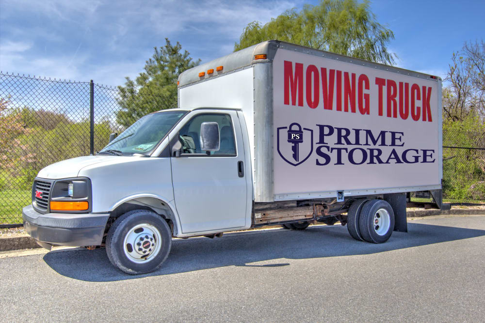 Moving truck at Prime Storage in Baltimore, Maryland