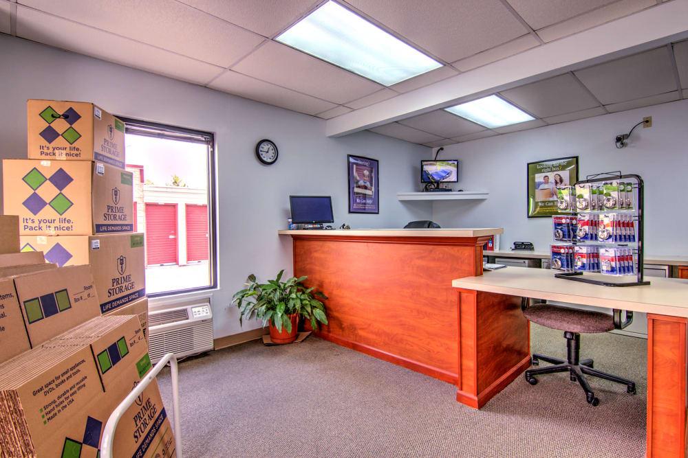 Front desk at Prime Storage in Ashland, VA