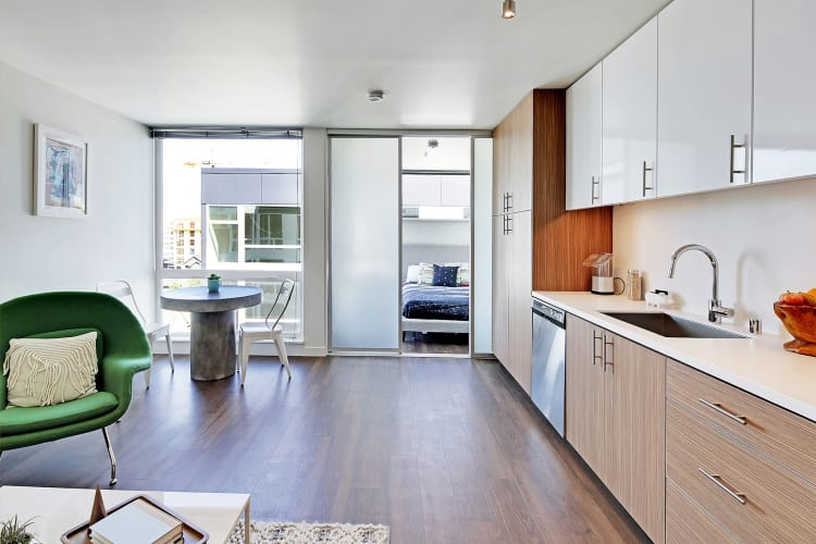Kitchen at Rooster Apartments in Seattle, Washington