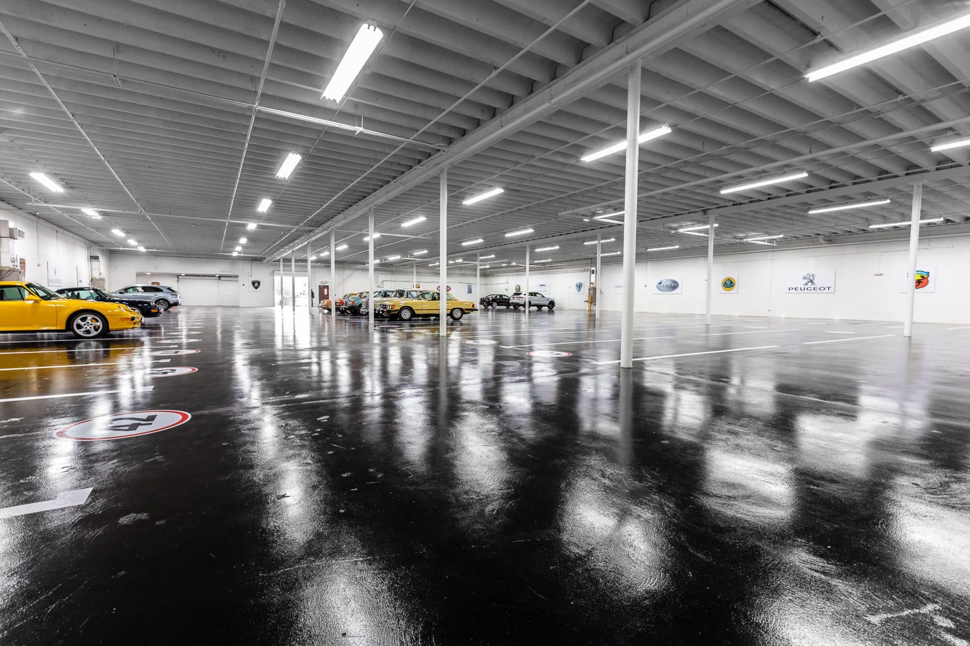 The very spacious garage at Premier Car Storage in Miami, Florida