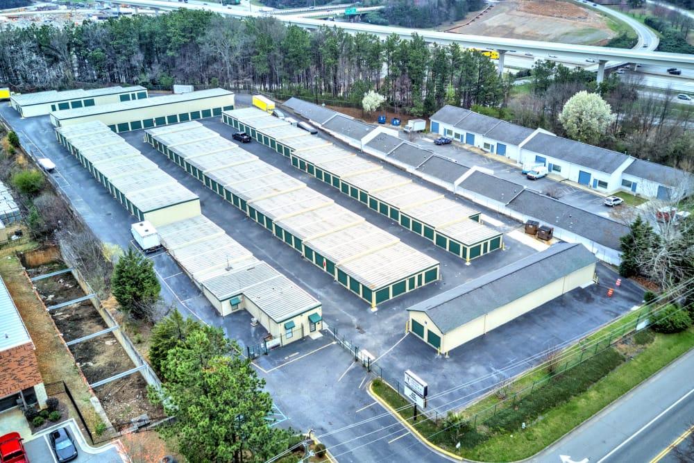 Aerial view of Prime Storage in Marietta, Georgia