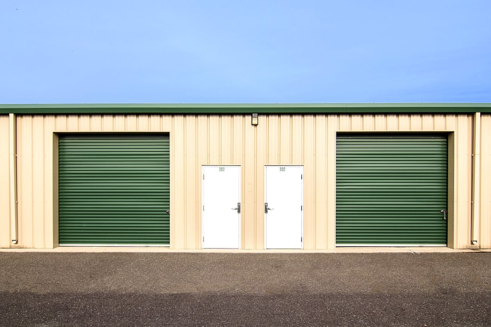 Outdoor storage units at On Site Storage in Hammonton, NJ