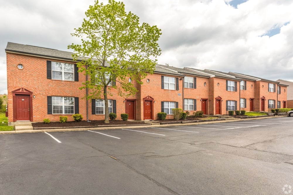 A row of townhomes at Cypress Creek Townhomes