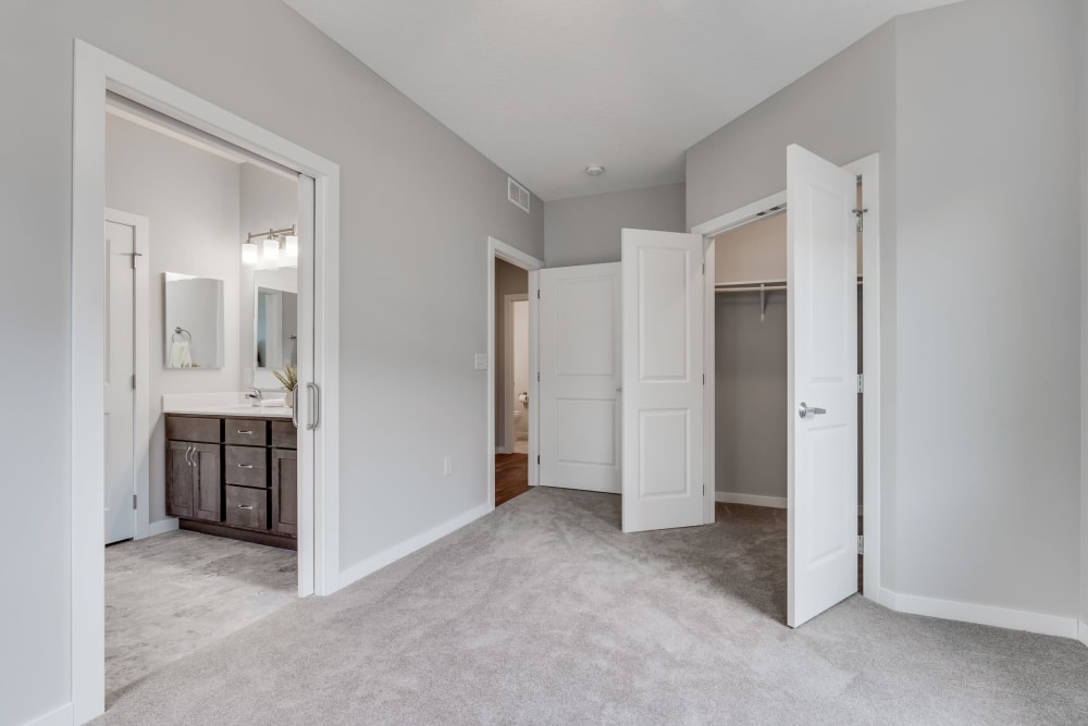 Spacious closets at The Fields at Arbor Glen in Lake Elmo, Minnesota