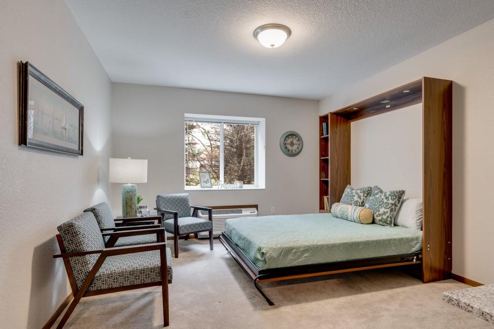 Modern bedroom suite at The Fields at Arbor Glen in Lake Elmo, Minnesota