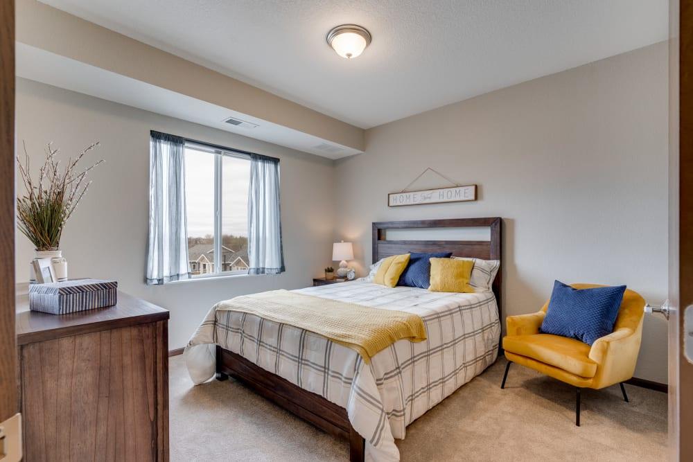 Bedroom at The Fields at Arbor Glen in Lake Elmo, Minnesota