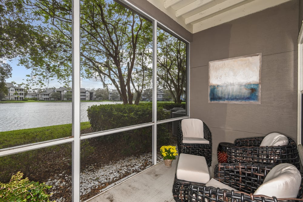 Sun porch at Ocean Park of Ponte Vedra in Jacksonville Beach, FL