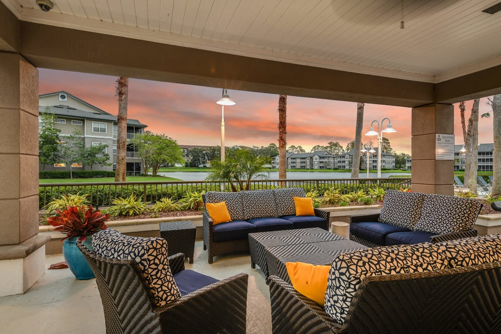 Sun porch at Ocean Park of Ponte Vedra in Jacksonville Beach, Florida