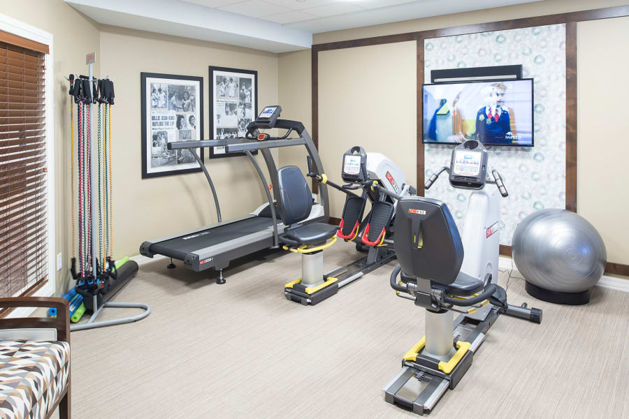 On-site fitness center at Village at Belmar