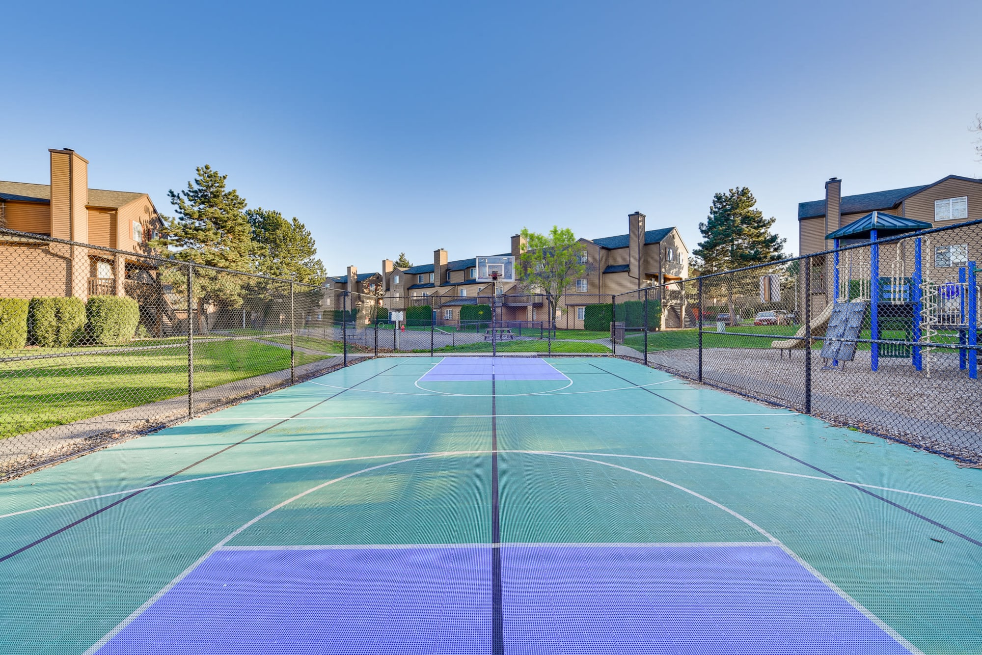 Sports court at Renaissance at 29th Apartments in Vancouver, Washington