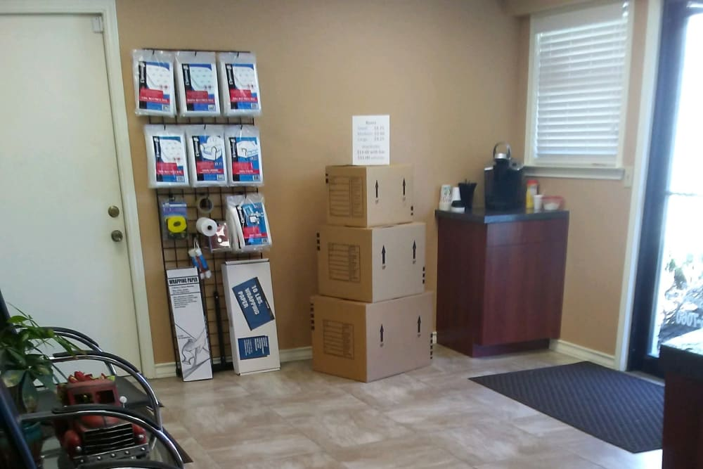 The inside of the store at Store It All Self Storage - Judson in San Antonio, Texas
