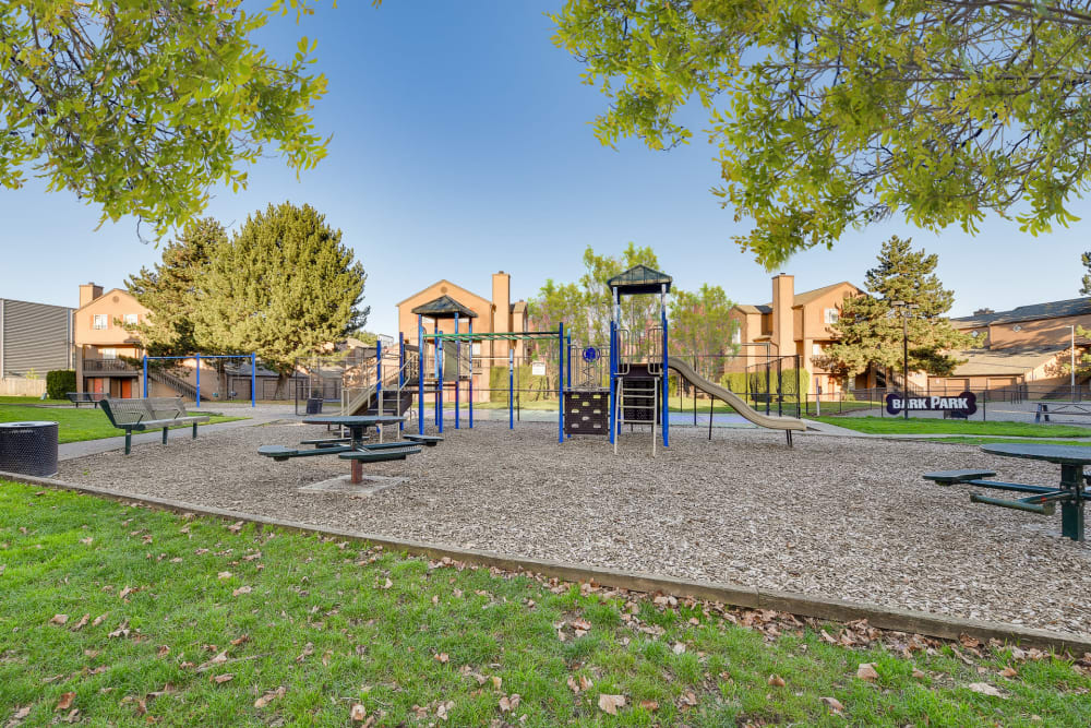 Large playground at Renaissance at 29th Apartments in Vancouver, Washington