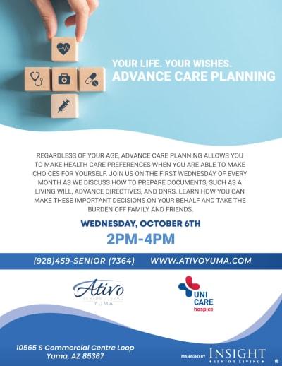 Advance care planning - Oct. 6th