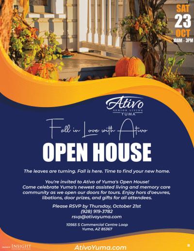 Open House -  Oct. 23rd