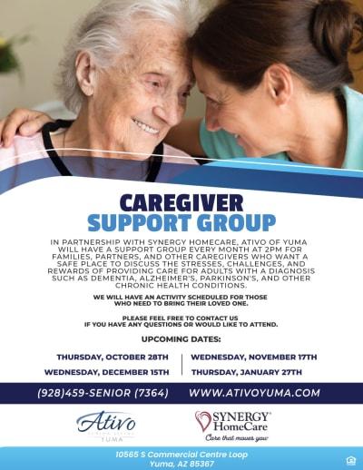 Caregiver support group - 10/28, 11/17, 12/15, 1/27