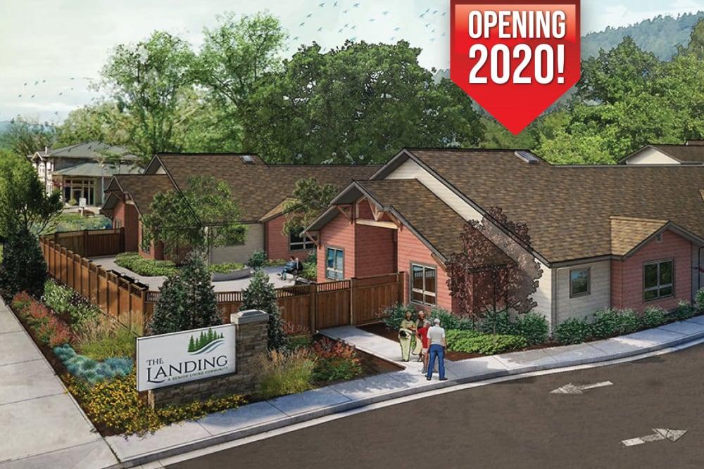 Exterior rendering of The Landing a Senior Living Community in Roseburg, Oregon