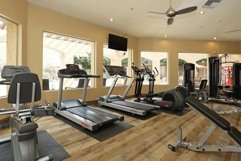 Onsite fitness center at The Regents at Scottsdale in Scottsdale, Arizona