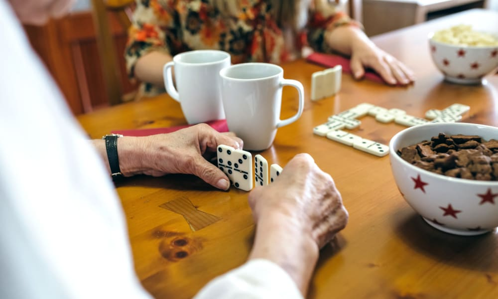 Residents playing memory games at Randall Residence of Centerville in Centerville, Ohio