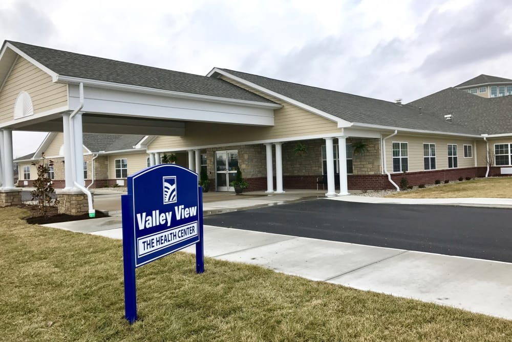 Welcome Sign at Valley View Health Campus in Fremont, Ohio