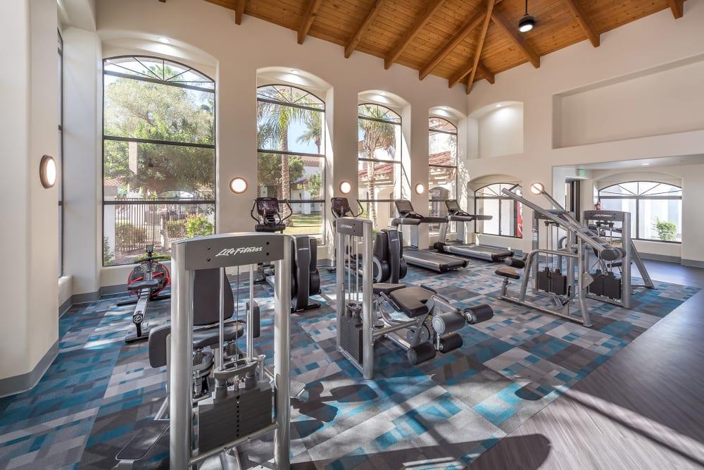 Onsite fitness center at San Palmas in Chandler, Arizona