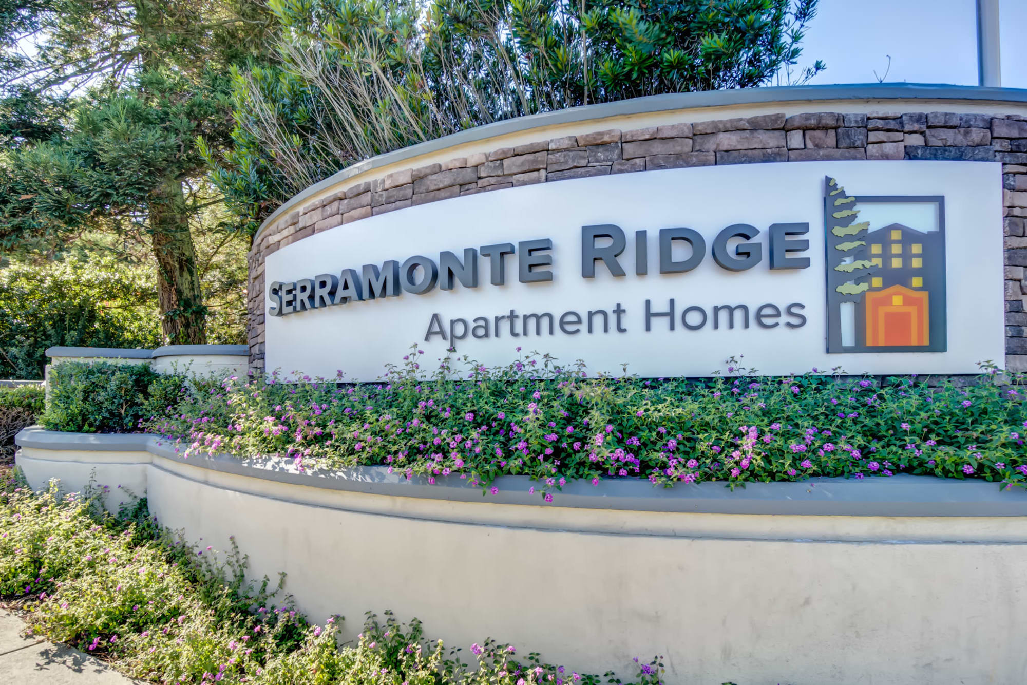 Monument Sign at Serramonte Ridge Apartment Homes